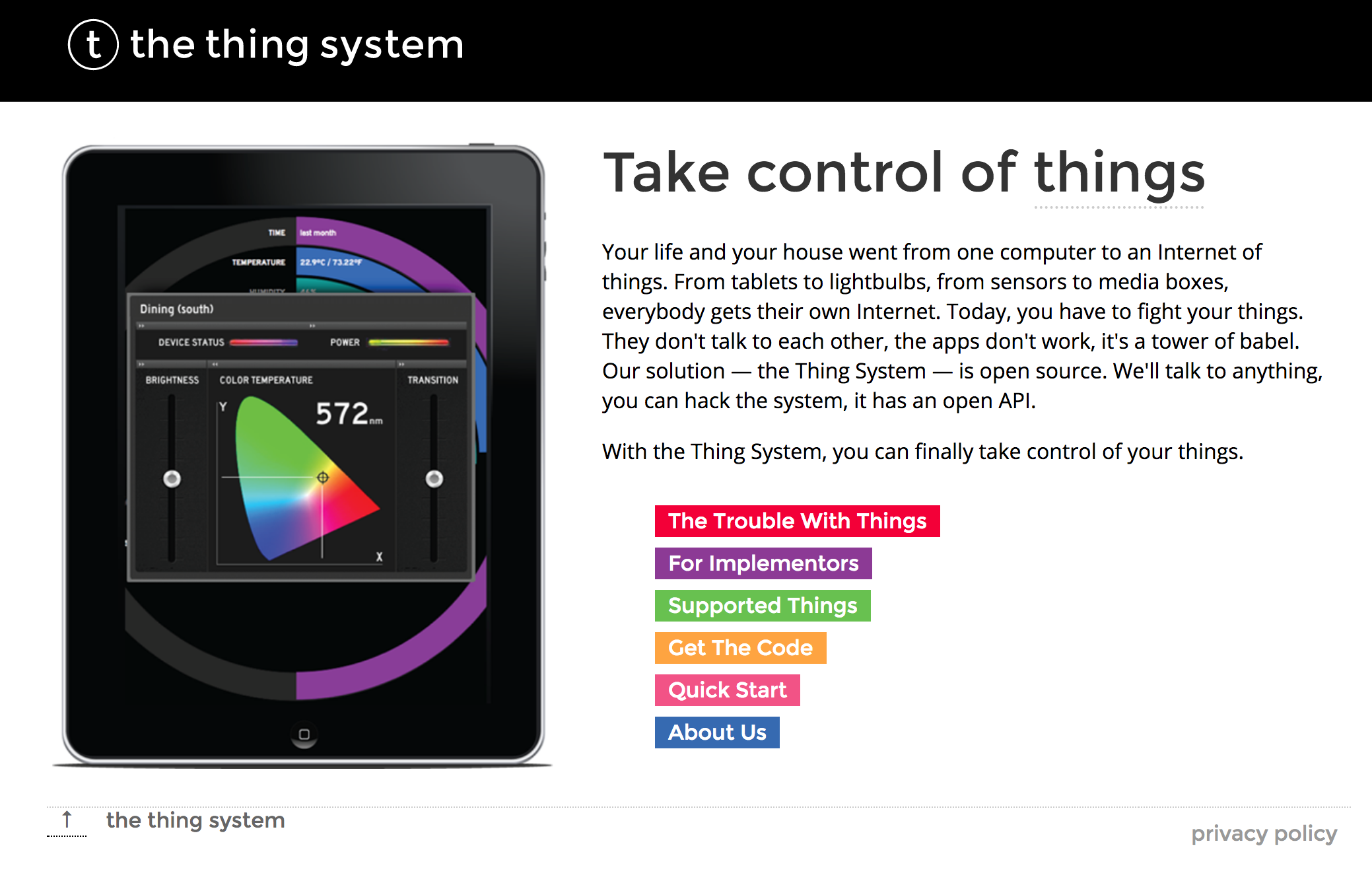 The Thing System